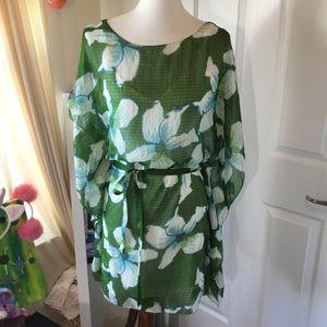 Max studio caftan dress. Medium. Removable slip.